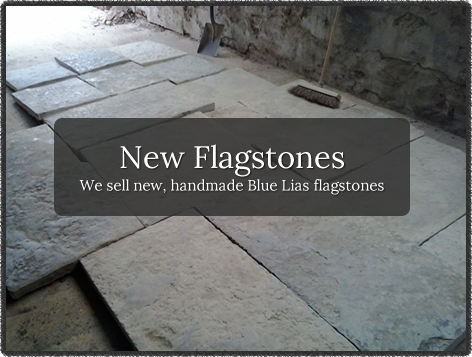 New Flagstones - We sell new, handmade Blue Lias flagstones