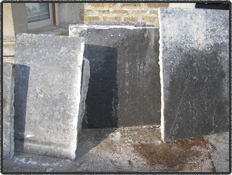 Some reclaimed blue lias flagstones